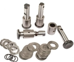 Rebuilt Type 1 Link Pin Spindle Assemblies (German King and Link Pin Kits), Link Pin, Drum Brakes, Stock Height, PAIR