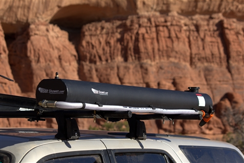 Road Shower Yakima And Thule Roof Rack Mounted Solar