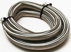 -8 Stainless Steel Braided Hose, Priced per Foot