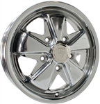 "SSP Fooks (Fuchs) Alloy, Fully Polished, 5 x 130mm Porsche Bolt Pattern, 15 x 4.5"", EACH"