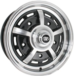 "SSP Sprintstar 5-Spoke, Black and Polished, 15 x 5.5"", 5 x 205mm Bolt Pattern"