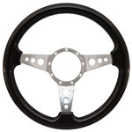 "Volante S9 Premium Steering Wheel (9 Bolt Pattern), 14"", Blackwood Grip, Polished Aluminum 3 Spoke with Holes, ST3075"