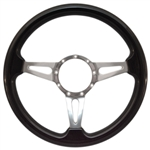 "Volante S9 Premium Steering Wheel (9 Bolt Pattern), 14"", Blackwood Grip, Polished Aluminum 3 Spoke with Slots, ST3077"