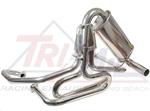 "Tri-Mil Off-Road Racing Exhaust System, 1 5/8"" Tubing, Bobcat Style wQuiet Pack, Raw or Ceramic Finish, 3103-QP"