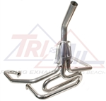 "Tri-Mil Off-Road Racing Exhaust System, 1 5/8"" Tubing, Upswept Exit (Bobcat Style), Raw or Ceramic Finish, 3103-Stinger"