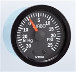 VDO Turbo BOOST Gauge, Cockpit, 2 1/16""