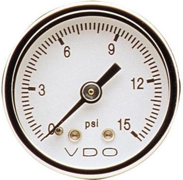 vdo direct mount gauge, 15psi, 1 1/2