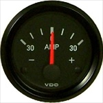 "VDO Ammeter, 30 Amp, Cockpit, 2 1/16"", Black Face"