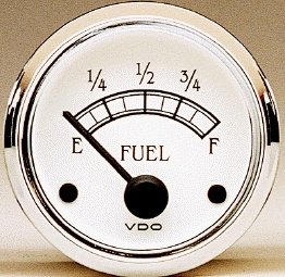 V on fuel gauge time