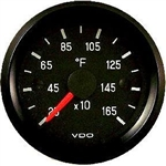 "VDO 250-1650F Pyrometer Temperature (EGT - Exhaust Gas Temperature) Gauge, Cockpit, Black Face, 2 1/16"", V310953"