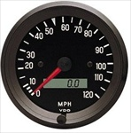 VDO 120mph Speedometer, Cockpit, Black Face, 3 3/8""