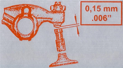 Valve Adjustment Sticker, Fits on Fan Shroud, 1969+ Beetle ...