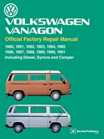 Official Bentley Service Manual 80-91' Type 2 (Vanagon), Including Diesel, Syncro, and Camper
