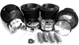 Piston & Cylinder Set, 96mm x 71mm (for 2.0L Crank and Rods), Chinese Hypereutectic, Flat Top Piston (European), Type 4, 2054cc, VW9600T4S71