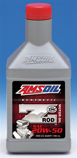 amsoil z rod 20w 50 synthetic motor oil quart zrfqt ea