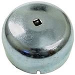 Wheel Bearing Grease Cap with Hole, Left, 1949-65 Type 1, 111-405-691