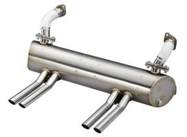 Vintage Speed Stainless Steel Abarth Style Muffler