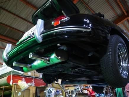 vintage speed stainless steel sport muffler   hp  type  engine  porsche