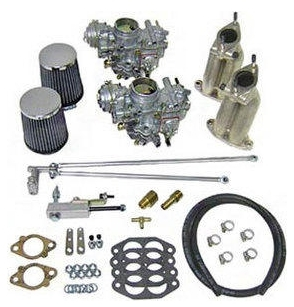 SCAT Dual 35mm PDSIT Solex Carb Kit, Ghia Dual Port Upright Engines, 30435EC-GHIA