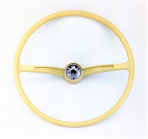 stock steering wheel wheel only ivory 1962 71 beetle. Black Bedroom Furniture Sets. Home Design Ideas