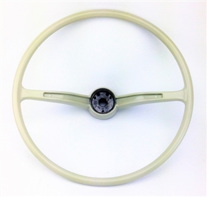stock steering wheel wheel only silver beige 1962 71. Black Bedroom Furniture Sets. Home Design Ideas