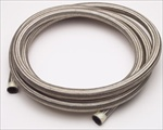 -8 (AN8) Aircraft Stainless Steel Braided Hose, 4'