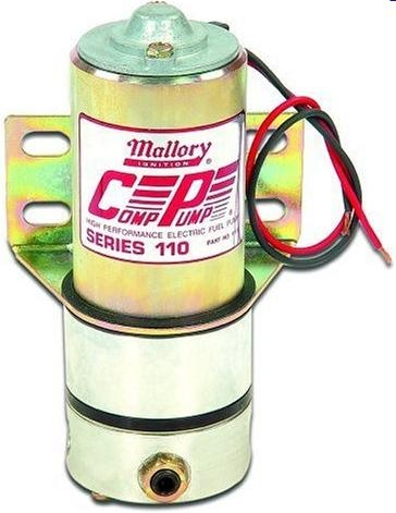 mallory 110 gph high performance electric fuel pump 4110 mallory 110 gph high performance electric fuel pump 4110
