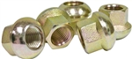 Steel Lug Nuts, 14 x 1.5mm Thread, Porsche Style (Open End), Ball Seat, Set of 5, 70-2860