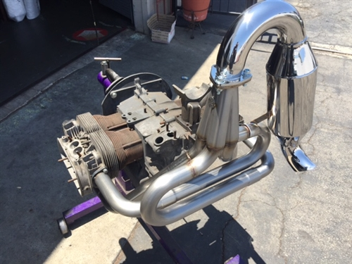 A-1 Performance Upright Manx and Buggy Merged Racing HEADER (Muffler NOT  included), J-pipes INCLUDED (No Heater Boxes), 1 1/2, 1 5/8, 1 3/4