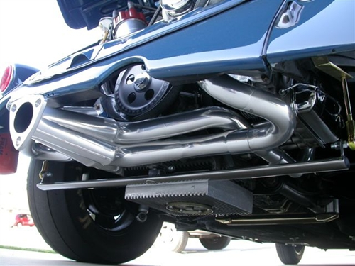 A-1 Performance Low Down Merged Racing HEADER (Muffler NOT included),  Slip-In J-Pipes (No Heater Boxes), 1 5/8, 1 3/4