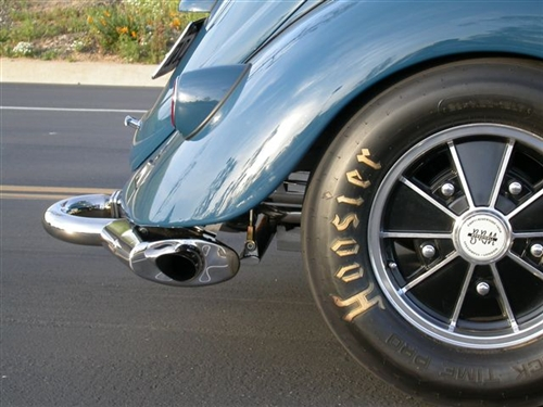 A-1 Performance Low Down Merged Racing MUFFLER (Phat Boy Muffler), Header  NOT included, A-1-M1000