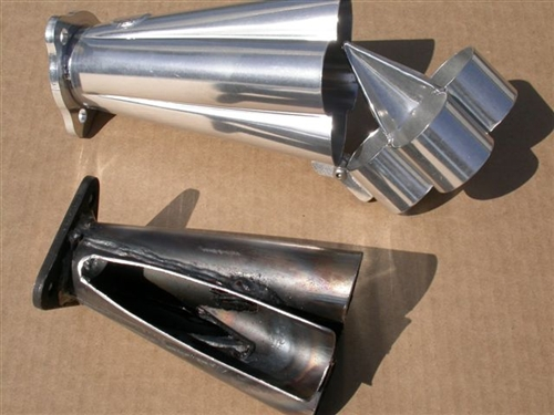 A-1 Performance Sidewinder Merged Racing HEADER (Muffler NOT included),  Slip-In J-Pipes (No Heater Boxes), Choose Tubing Size