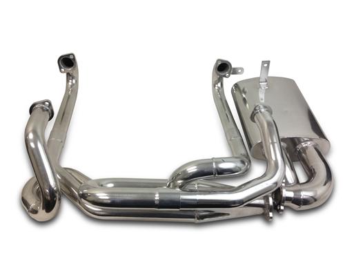 AA Performance Merged Sidewinder Header and Muffler, 1 1/2 or 1 5/8