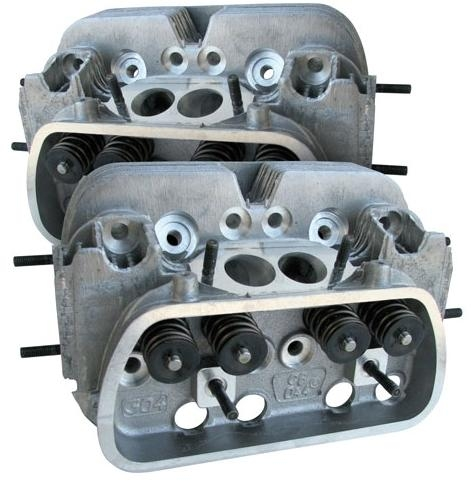 CB Performance 044 SUPER MAG CNC Round Port Cylinder Heads, 40 X 35 5mm  Valves, 85 5, 92, and 94mm Bore, PAIR