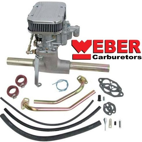 Deluxe Center Mount Weber-REDLINE Progressive (DFAV/DFEV) Carburetor Kit,  for DP Type 1, K1410