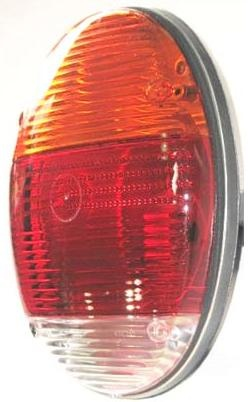 Shipping A Car >> Euro Flat Tail Light Assembly, 1973+ VW Type 1, 133-945-097AMBER - Aircooled.Net Volkswagen Parts
