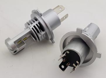 Led Headlight Bulb >> H4 Led Headlight Bulb Conversion Kit Complete High And Low Beams Pair