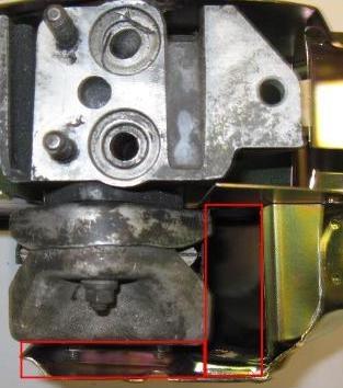 Hoover Bit Doghouse Oil Cooler Sealing Frame Scat