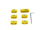 7mm (Stock) Plug Wire Separator Kit, Yellow, Set of 6