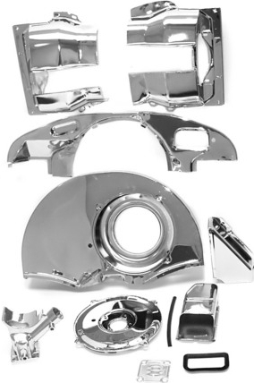 Scat 36hp Doghouse Fan Shroud Kit Paintable Or Chrome