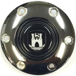 Volante Steering Wheel Horn Button, Wolfsburg (Castle Style), Fits 6 Bolt Volante S6 Sport Steering Wheels, STE1041-CHROME