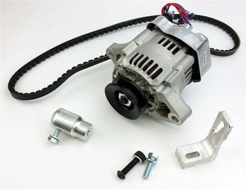 T3 Alternator Conversion Kit 2 12v alternator kit, 55 amp alternator, type 3 engines (squareback vw generator to alternator conversion wiring diagram at gsmportal.co