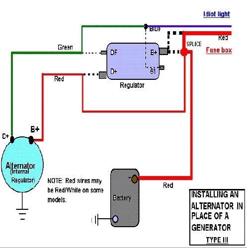 air cooled vw wiring diagram 12v alternator kit  55 amp alternator  type 3 engines  squareback  12v alternator kit  55 amp alternator