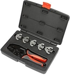 Quick Change Ratchet Wire Crimping Tool, 6 Pieces, T3001