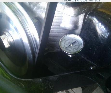 Dipstick Oil Temperature Gauge Thermometer Upright