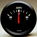vw gauges stock gauges guage mounts sending units vdo products vdo ammeter 60 amp cockpit 2 1 16 black face