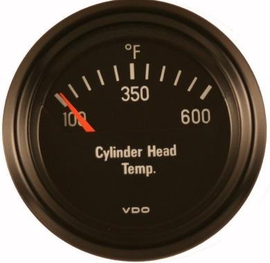 vdo 600f cylinder head temperature cht gauge cockpit black face rh vwparts aircooled net VDO Gauges Wiring in a Volkswagen Beetle VDO Tach Wiring