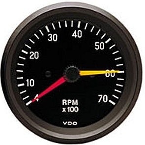 vdo gauges sensors speedometers tachometers available at vdo tachometer cockpit black face 7000 rpm 3 3 8