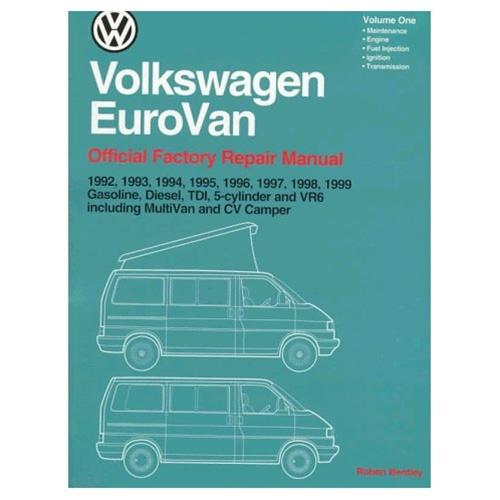 vw official service manual 1992 99 eurovan bentley manual 2 volume rh vwparts aircooled net 1993 VW Engine 1993 VW Golf