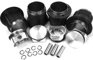 88mm x 69-74mm Hypereutectic Slip-In Bottom and Machine in Top Piston & Cylinder Set, AA Brand, Type 1, VW8800T1K